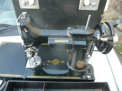 1950 Singer 221k-1 sewing machine serviced rewired PAT test manual attachments
