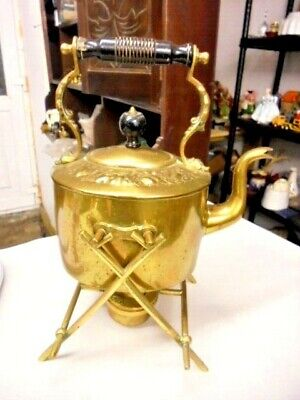 Large Antique Brass Spirit Kettle Direct From House Clearance