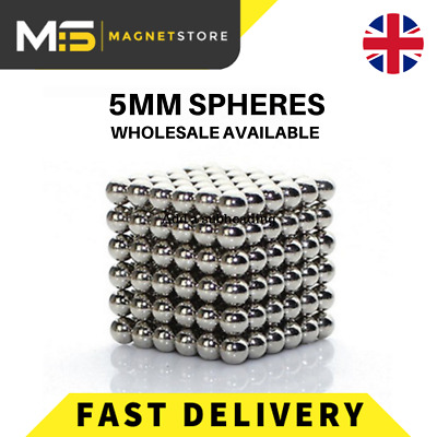 NEW 5mm Super Strong Sphere Neodymium N42 Magnetic Industrial & Buisness  Ball