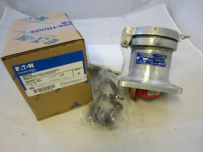 Crouse Hinds 60 Amp 3W 4P  Receptacle Ar642 New In Box Mates With Apj6485