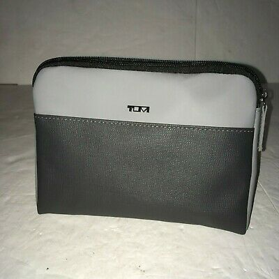 "TUMI for Delta Small Zip Travel Case Toiletry Bag 8""x6"""