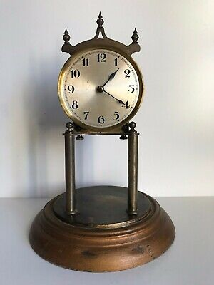 Antique Early 20th Century 400 Day Anniversary Torsion Clock For Spares