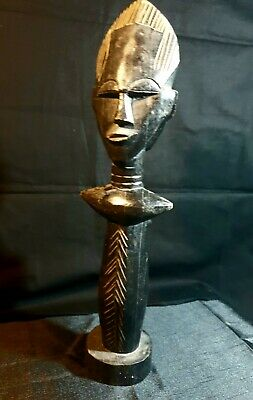 BIG African Carved Wood Special price Hand Vintage Art Ancient sculpture  1298