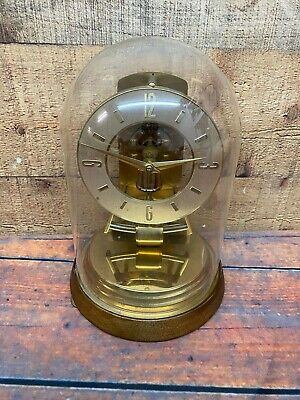Vintage Kundo Anniversary Clock With Dome Electric Untested Parts Repairs