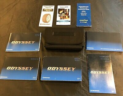 2014 Honda Odyssey Owners Manual With Case And Navigation OEM 14 *Free Shipping*