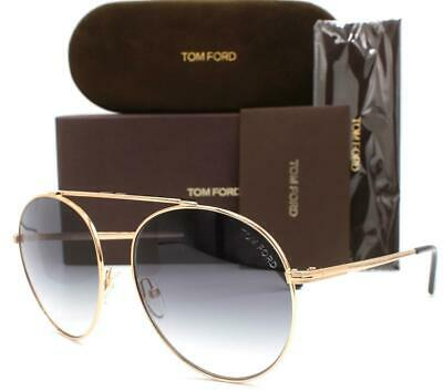 Tom Ford Jacquelyn-02 TF563 563 Sunglasses Pale Gold Tortoise 28C Authentic 64mm