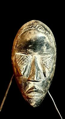 MINI DAN Mask African Carved Wood Tribal Wall Hand Vintage Art Wooden  mask 1301