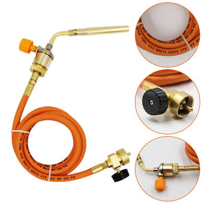 1600°C Gas Ignition Plumbing Turbo Torch w/ Hose Solder Propane Copper Welding