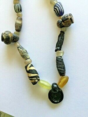 necklace with Islamic and roman beads