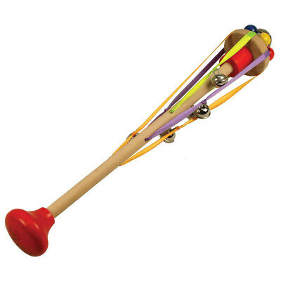 Bigjigs Toys Wooden Bell Tree Rattle Toy Baby Traditional Stocking Filler Gift