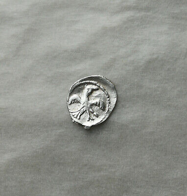 "Medieval silver very small coin "" BIRD "" Ancient Vikings of Kievan Rus"