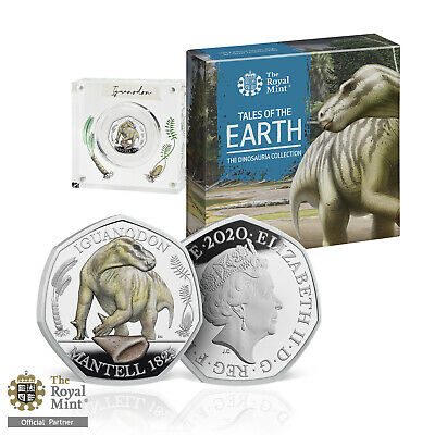 Dinosaur 50p Coin Iguanodon Official Royal Mint Limited Edition Silver Proof