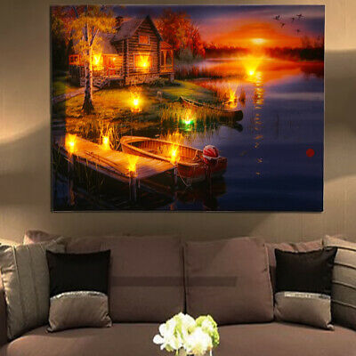 1 X LED Light Canvas Painting Wall Hanging Picture Art Print Home Decor 40x30CM