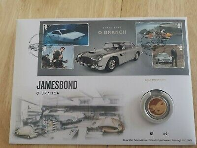 ONLY 50 EXIST! James Bond 007 Quarter ounce Gold Royal Mint Coin w/ Stamps 2020