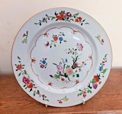 18thC Chinese Export Famille Rose Plate Qianlong Qing Dynasty c1740 VGC