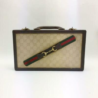 Rare Authentic Gucci Vintage GG Pattern Attache Case Trunk Bag