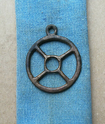 "Ancient Viking Bronze pendant AMULET ""SUN"" GREAT SAVE VERY RARE SUPER CONDITION"