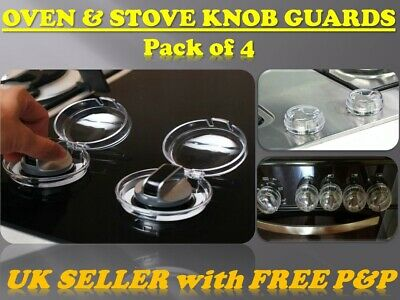 *BabyGuard* Oven Stove Knobs Guards Cooker Hob Safety Shield Covers 4Pcs