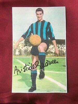Autografo originale ARISTIDE GUARNERI-Inter-Campione Europeo 1968-Ex-Napoli/Como