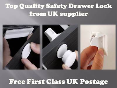 Invisible Magnetic Baby Child Pet Proof Cupboard Door Drawer Safety Lock+key