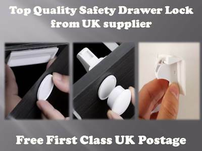 UK Invisible Safety Magnetic Cupboard Drawers Lock Door Proof---Upgraded Designs