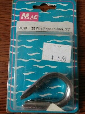 "Mac 50530 SS Wire Rope Thimble 3/8"" NEW"
