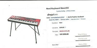 Rockville Double X Braced Keyboard Stand+Push Button Lock For Korg Pa700