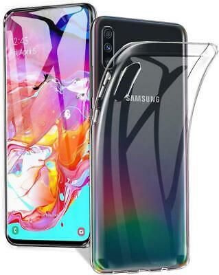 Samsung Galaxy A70 Transparent Case Crystal Clear Soft Flexible TPU Back Cover