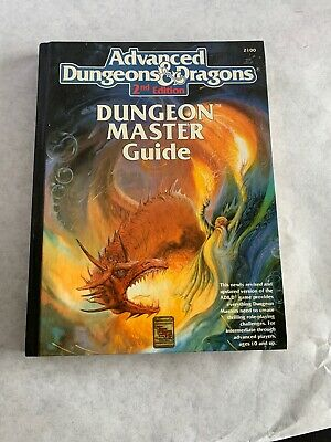 1989 Advanced Dungeons and Dragons 2nd Edition Dungeon Masters Guide TSR 2100