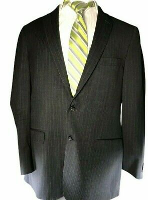 Peter Millar Sz 44T Sport Coat Blazer Suit Jacket Gray Stripe Pinstripe Wool