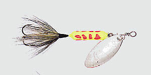 Wordens Rooster Tail snow 212  1//4 ounce treble hook NIP