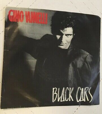 """GINO VANNELLI  BLACK CARS/ Imagination 45 Record 7"""" Single With PS. Excellent"""
