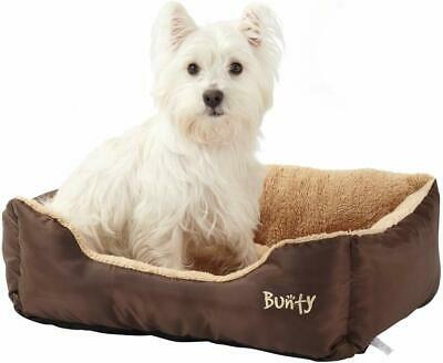 Deluxe Soft Washable Dog Pet Warm Basket Bed Cushion with Fleece Lining - Brown