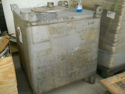 350 GALLON  LIQUID TOTE STAINLESS STEEL -Built by Hoover Group Inc.