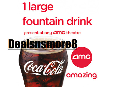 AMC (10X) Large Fountain DRINK Vouchers- Expires 12/31/2020 -$2 each
