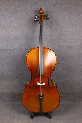 Beginner Cello 4/4 Fine Tone Hand Carve Solid wood Maple Spruce