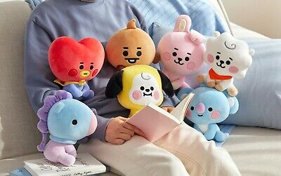 Official Bt21 Baby Sitting Doll 20Cm, 12Cm Plush Doll Bts Chimmy Tata Authentic