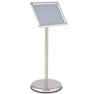 "9.5"" x 13"" Adjustable Aluminum Pedestal Poster Stand - Silver"