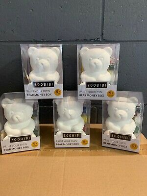 Paint Your Own Bear Money Box - Box Of 12