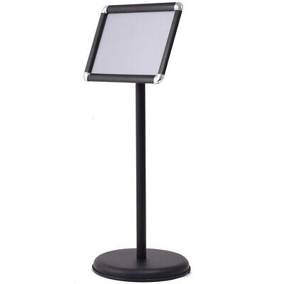 "9.5"" x 13"" Adjustable Aluminum Pedestal Poster Stand - Black"