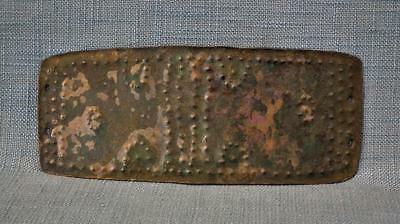 Ancient Celtic Bronze Armor Belt Buckle to sword Circa 8th Century B.C.