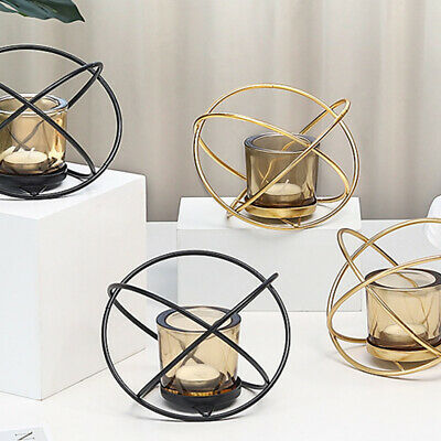 Practical Gift Candle Holder Nordic Style Crafts Candlestick Geometric Iron Art