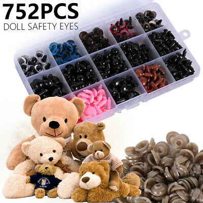 752pcs Various Safety Eyes Teddy Bear Making Soft Toys Animal Dolls Amigurumi