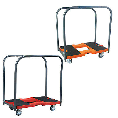 1500LBS Industrial Platform Trolley Hand Truck Moving Wheeled Dolly Cart Handles