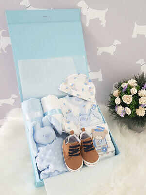 PERSONALISED 'Bears' New Baby Boy Gift Hamper, Baby Shower Present XLARGE