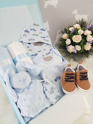 PERSONALISED 'Vehicles' New Baby Boy Gift Hamper, Baby Shower Present XLARGE