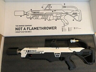 "Elon Musk Tesla ""NOT A FLAMETHROWER"" The Boring Company"