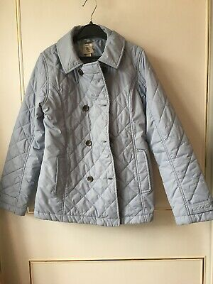 Girls Anorak/coat Age 9/10 Lands End Powder Blue Spring Summer Casual