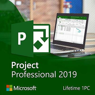 Microsoft Project Professional 2019 License Key - DIGITAL DELIVERY