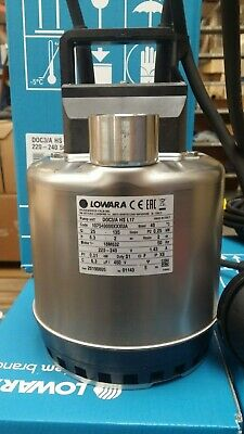 Lowara DOC 3A submersible pump with float 240 volt